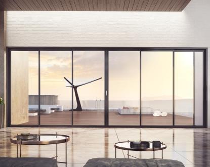 Multi-sash windows or patio doors with more than 4 sliding sashes